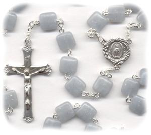 Handmade Angelite Stone Rosary