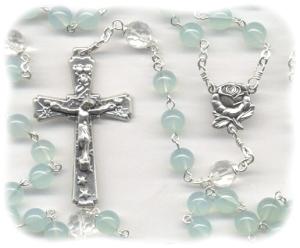 Blue Chalcedony Rosary