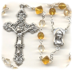 November Birthstone Rosary (Czech Glass)