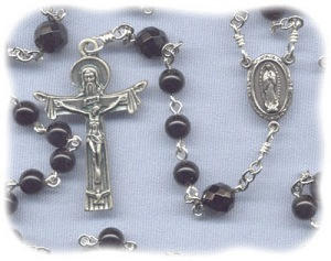 Black Onyx Rosary with Faceted Paters