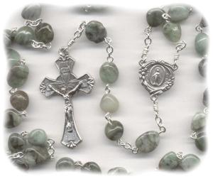 Emerald Stone Birthstone Rosary