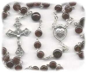 January Birthstone Rosary (Garnet Stone)