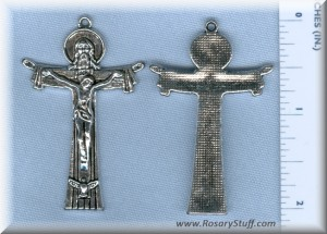 "Beefy Holy Trinity Crucifix - 2"""