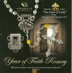 Year of Faith Rosary Center & Crucifix Detail