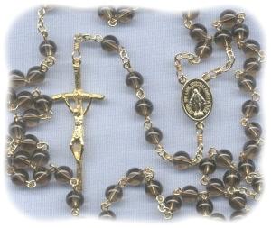 Smokey Quartz Stone Rosary
