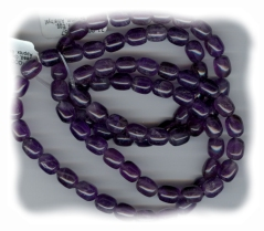 Amethyst Stone Egg Shaped Beads 8mm x 10mm