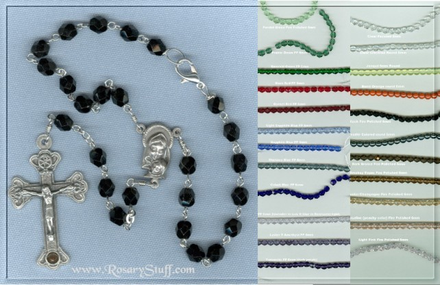 Custom Car Rosary, you choose the color