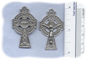 1 3/4 inch Celtic Crucifix