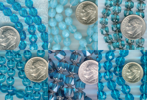 Custom Rosary Colors: Aquamarine
