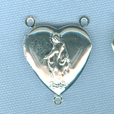Heart Shaped Our Lady of Grace Locket Center