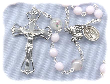 pink opal bc rosary