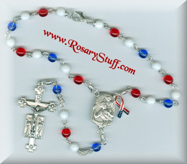 Liberty car rosary for Mt St Vincent Auction 2017